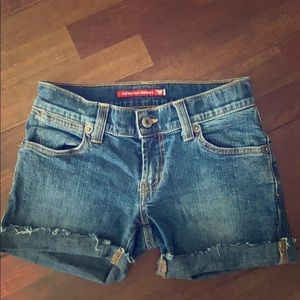 Vintage guess jean denim cut off shorts sz 26